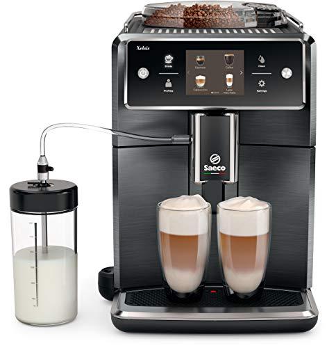 Saeco Xelsis Super Automatic Espresso Machine, Titanium Metal Front, SM7684/04