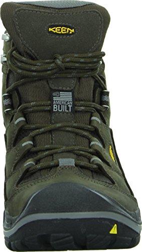 KEEN - Men's Durand Mid Waterproof Hiking Boot, Cascade Brown/Gargoyle, 11 M US