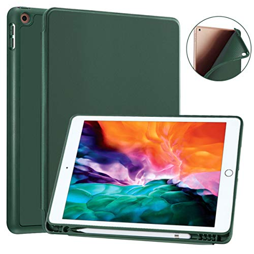 SIWENGDE Compatible for Apple iPad Air 3rd Generation case,ipad air 3 case 10.5 inch 2019 with Pencil Holder, TPU Stand Smart Protective Cases Cover Sleeve for iPad Air 3 Gen (Midnight Green)