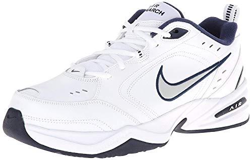 Nike Fitnessschuhe, Herren Air Monarch Iv, - Weiß Metallic Silber Midnight Navy - Größe: 47.5 EU
