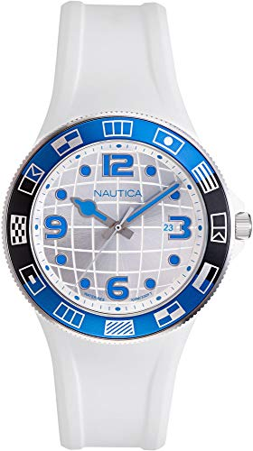 Nautica Men's Lummus Beach NAPLBS903 White Silicone Quartz Fashion Watch