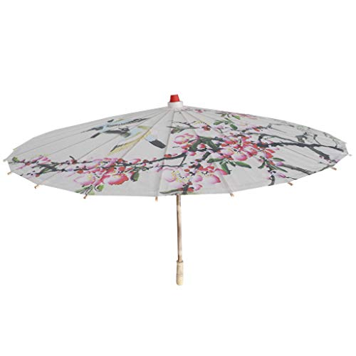 B Blesiya Chinesischen Regenschirm - Asiatischen Sonnenschirm - Tanz Schirm - Tanzen Requisiten - Handgemacht - aus Papier - Pfirsichblüte