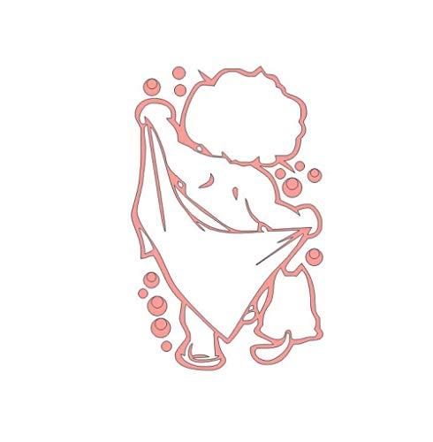 Kinder Bad Wandaufkleber Glastür Fenster Wasserdicht Dekor Kunst Wandbild Baby Dusche Badezimmer Vinyl Aufkleber Aufkleber-Weiches Rosa_35CMX58CM