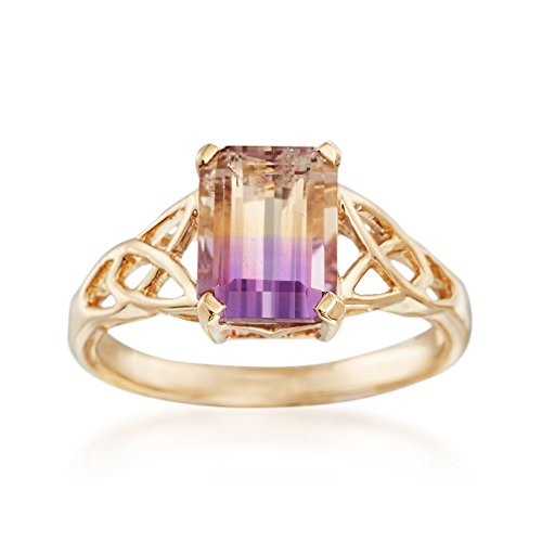 Ross-Simons 1.90 Carat Ametrine Celtic Style Ring in 14kt Yellow Gold. Size 6