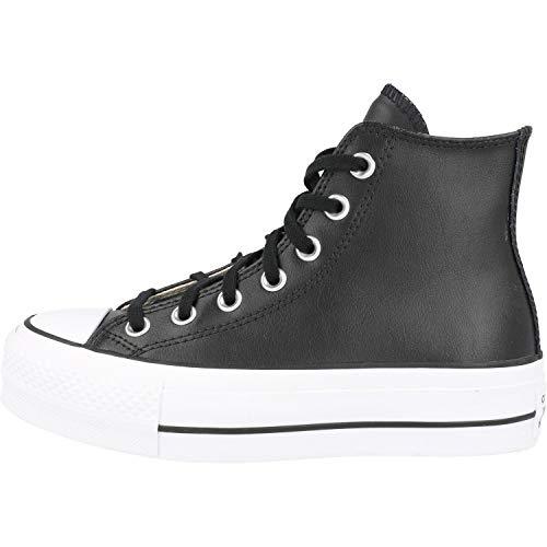 CONVERSE - CTAS Lift Clean HI 561675C Black White, Tamaño:38 EU
