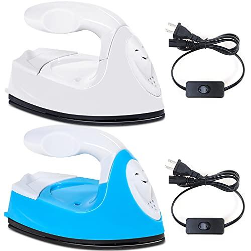 OBANGONG 2 mini máquina de prensa de calor, mini plancha eléctrica, portátil, práctica plancha, pequeña prensa de calor, para...