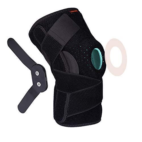 Thx4COPPER Hinged Knee Brace Adjustable Open Patella with Straps Side Stabilizers Compression Support for Protection Pain Relief Trauma ACL LCL MCL Tears ArthritisTendon Injuries