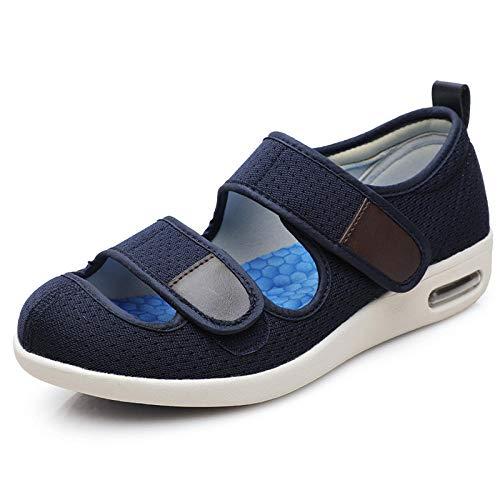 Zapatos para pie diabético con artritis edema,Agregue fertilizante para ensanchar los zapatos de los pies hinchados, zapatos de pie en valgo del pulgar-37_dark blue,Zapatillas edema artritis edema an