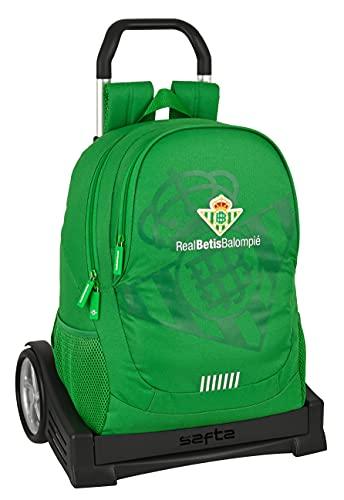 safta Mochila Espalda Ergonómica con Carro Evolution de Real Betis Balompié, 320x160x440 mm