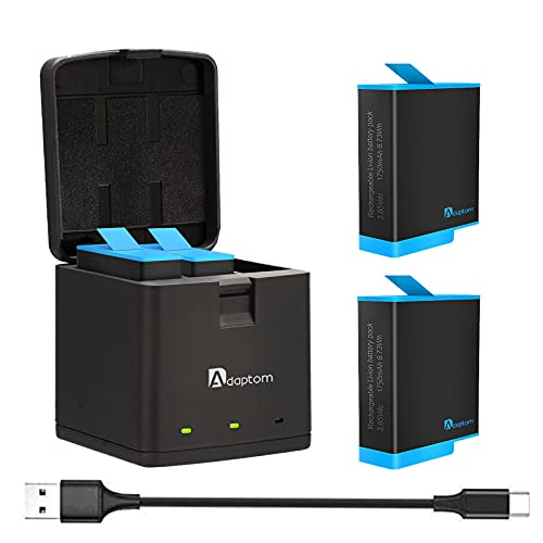 Adaptom Hero 10 9 Baterías 2 Piezas con Cargador de Batería de...