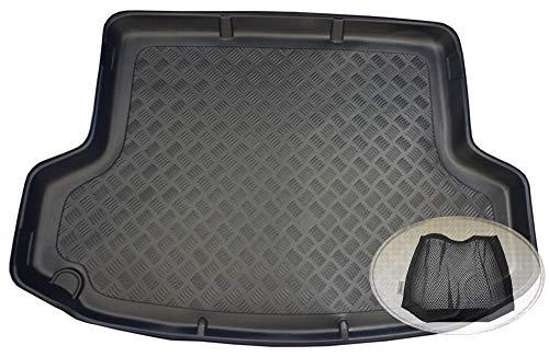 ZentimeX Z3325049 Geriffelte Kofferraumwanne fahrzeugspezifisch + Klett-Organizer (Laderaumwanne, Kofferraummatte)