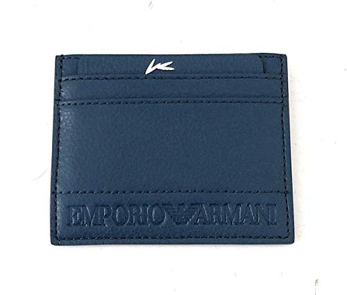 Emporio Armani hombre fundas para tarjetas de visita light blue