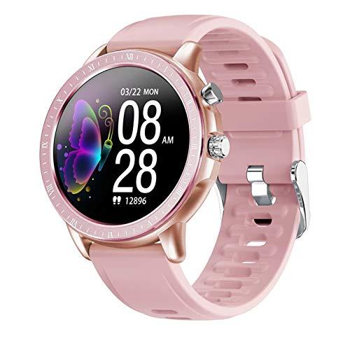 LVF SQU2 Bluetooth Smart Watch, Monitoraggio della Frequenza Cardiaca con Tasso Cardiaco da 1,3 Pollici da Donna da Donna IP67 Impermeabile Impermeabile Smart Watch Guarda,C