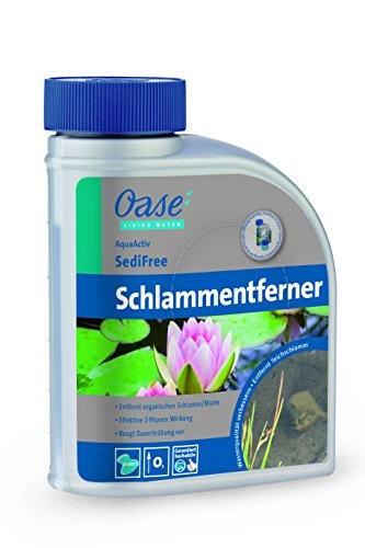 OASE 43143 AquaActiv SediFree Schlammentferner 500 ml - schnelle und biologische Teichpflege mit Sauerstoff und Bakterien entfernt Teichschlamm im Teich Schwimmteich Gartenteich Koiteich Fischteich
