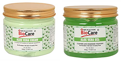BEAUCODE BioCare Aloe Vera Face and Body Gel and Cream Pack of-2 (500g)