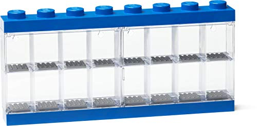 Room Copenhagen Lego Minifigure Stackable Display Case with 16 Knobs, in Blue