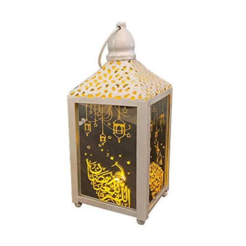 TLM Toys Ramadan Windlicht,deko Laterne with LED,orientalische Lampe Hanging Lantern Orientalische Lampe Deko Wohnzimmer Laterne Outdoor for Muslim Islamic Eid Or Other Festivals