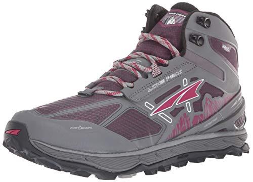 ALTRA Women's Lone Peak 4 Mid RSM Waterproof Trail Running Shoe, Gray/Purple - 10.5 B(M) US