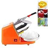 SIERINO Elektrische Ice Crusher Ice Shaver Machine für Heim- und Kommerziellen Einsatz Schnee-Kegel-Maschine Edelstahl Rasierte Eismaschine, 187 Pfund pro Stunde