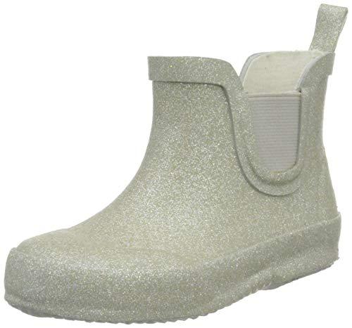CeLaVi Jungen Unisex Kinder Short wellies with glitter Gummistiefel, Silver, 25 EU