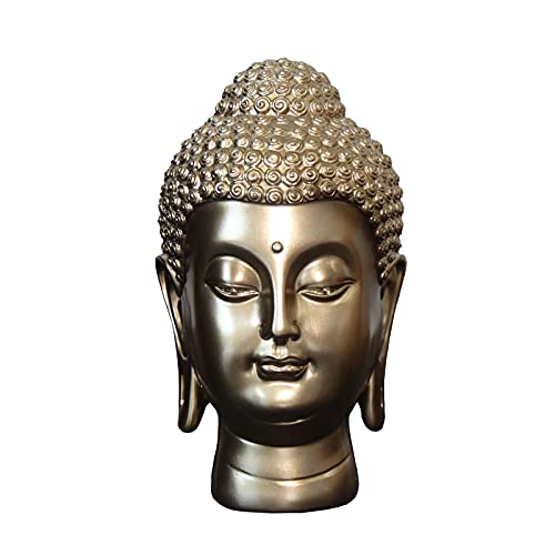 Carefree Fish Buddha Head Statue Wall Home Buda Figurine Zen Decor Meditation Decoration 5Inch