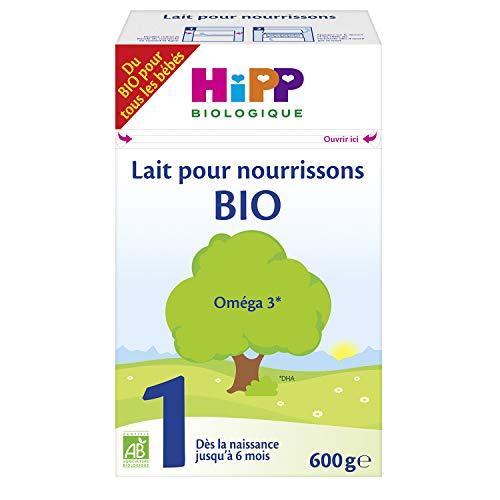 Hipp Biologique Lait 1 Bio pour Nourrissons de 0 à 6 Mois 4 Boîtes de 600 g