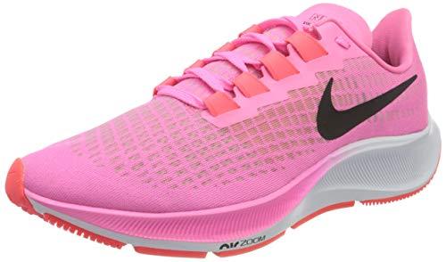 Nike Women's Air Zoom Pegasus 37 Trail Running Shoe, Pink Glow/Black-Platinum Viole, 2 UK