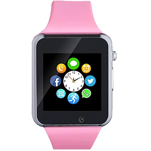 Beaulyn Smart Watch, Android SmartWatch for Women Kids Girls Touch Screen Watch Phone with SD SIM Card Slot Camera Pedometer Compatible with Bluetooth for iOS (Partial Functions) Sweatproof