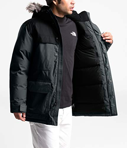 The North Face Men's McMurdo Parka III, Asphalt Grey/TNF Black/TNF Black, X-Large
