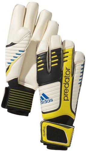 adidas, Guanti da portiere Bambino Predator Young Pro, Multicolore (black/white/vivid yellow s13/prime blue s12), misura 11,5