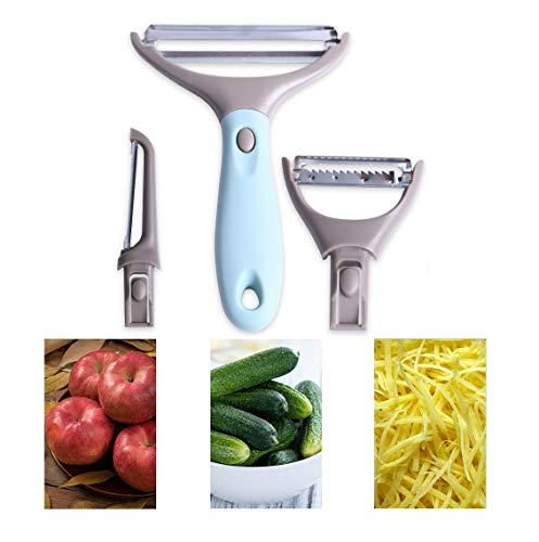 Trio Peeler Set,Vegetable Peeler,Stainless Steel Blades, potato peelers,carrot peelers,Kitchen Tool,Multifunctional Veggie and Fruit Peeler Set of 3
