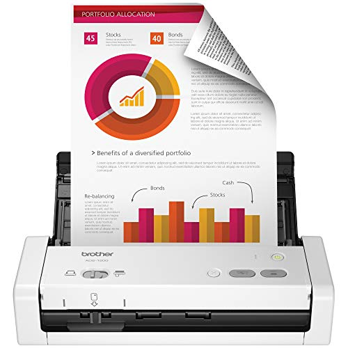 Brother EasytoUse Compact Desktop Scanner ADS1200 Fast Scan Speeds Ideal for Home Home Office or OnTheGo Professionals ADS1200