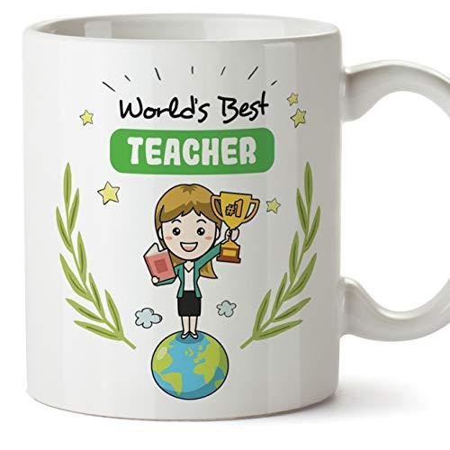 MUGFFINS Teacher. Original Mug Cup World'S Best Teacher - 11 oz Ceramic
