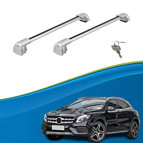Ajuste Personalizado para GLA Barras De Carga Barras De Techo Baca Portaequipajes Barras Portaequipajes De Coche para GLA 2015-2021 (Color : Silver, Size : For Mercedes Benz GLA 2021)