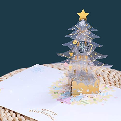 JKGHK Christmas Cards 3D Christmas Tree Christmas Greeting Cards Xmas Gifts Crystal Christmas Tree