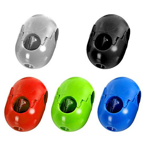 AUTOECHO 5/20 Stück Klettergurte mit Installation, Kletterseil, Kunststoff-Verbindung, Kletterseil, Schnalle für Outdoor-Vergnügungsschaukel, zufällige Farbauswahl, a, 20 x 12mm
