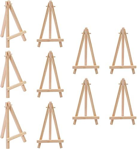 GCX Práctico 10 mini caballete de madera soporte de exhibición pequeño portátil mesa superior caballete triángulo boda foto menú pintura satisfacción arte