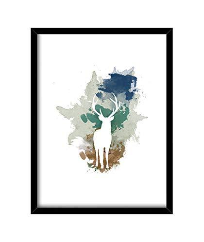 latostadora - Cuadro The Spirit of The Forest Cuadro con Marco Negro Vertical 3:4 (30 x 40 cm)