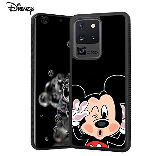 DISNEY COLLECTION Mickey Mouse Creative Design Tired Case for Samsung Galaxy S20 Ultra 5G 6.9 Inch Shockproof Soft TPU Side and PC Back Samsung Galaxy S20 Ultra Case Non-Slip Cover