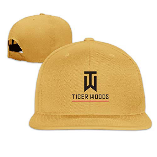 SuyuttiER Tiger Logo Woods Unisex Flat Baseball Caps Adjustable Hat Flat Bill Baseball Cap