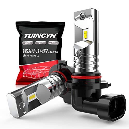 TUINCYN 1600Lm Extrêmement Lumineuse 9006 HB4 Ampoules antibrouillard LED Remplacement 6500K Blanc Puces CSP 80W Haute Puissance Ampoule LED DRL Daylight LED 12V-24V (Paquet de 2)