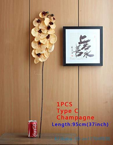 XCVB6 soorten 12 kleurenKunstmotOrchidee Vlinder Orchidee voor nieuw huis Home Bruiloft Festival Decoratie, type C Champagne