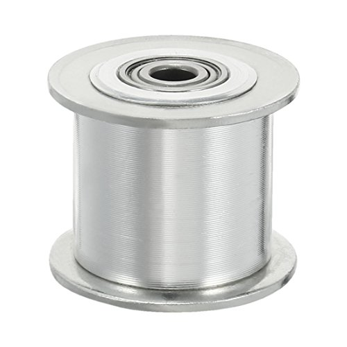 uxcell Aluminum 3 M 20T 5mm Bore Toothless Timing Idler Belt Pulley Flange Synchronous Wheel for 15mm Timing Belt