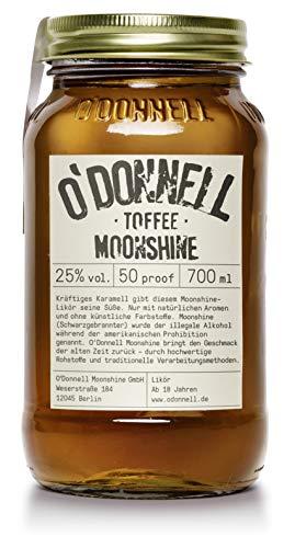 """O'Donnell Moonshine """"Toffee"""" Likör (700 ml) I Vegan I Natürliche Zutaten I Premium Schnaps I 25% Vol. Alkohol"""