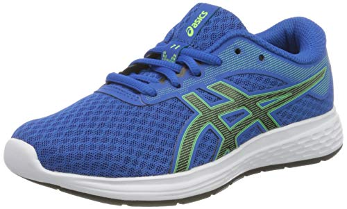 ASICS Unisex-Child Patriot 11 GS Running Shoe, Tuna Blue/Black, 40 EU