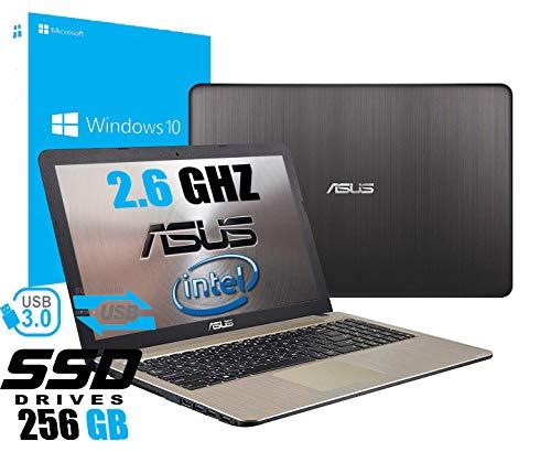 Notebook Asus Vivobook Portatile Pc Display da 15.6' Cpu Intel Dual Core Fino a 2.60Ghz /Ram 4Gb /SSD 256GB /Graphics Intel UHD600 /Hdmi Dvd Wifi Bluetooth /Windows 10 professional /Office Pro 2019