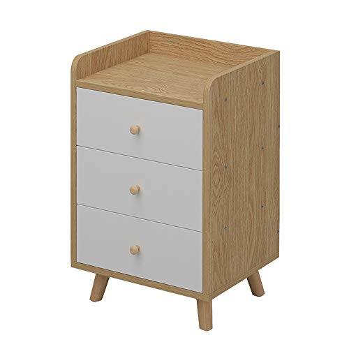 Bedside Tables Bedside Table Nightstand Storage Units Cabinets with Drawers and Pine Wooden Legs for Bedroom Living Room Home Furniture Bedroom Storage (Color : A, Size : 40x35x65cm)