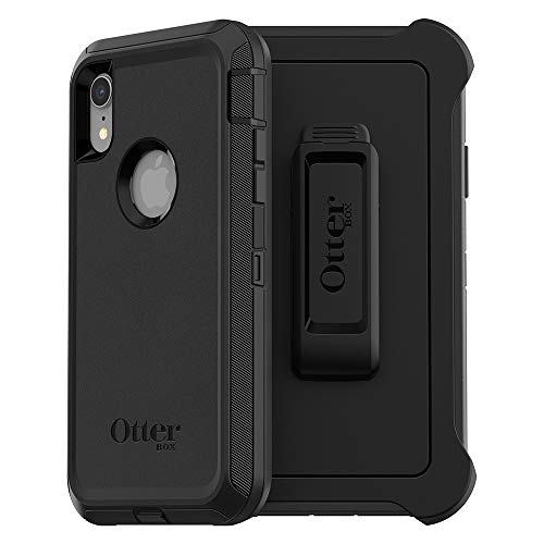 OtterBox DEFENDER SERIES SCREENLESS EDITION Case for iPhone Xr - Retail Packaging - BLACK