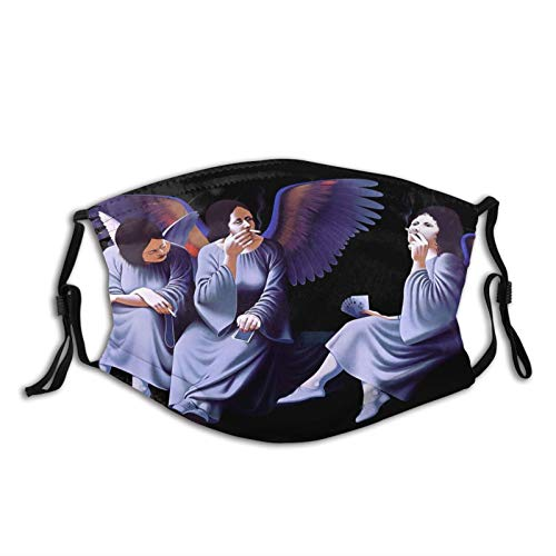 VirgieBSmith Blac-k Sab-Bath Heaven and Hell Decorative Masks,Outdoor Bandanas,Face Cover,Mouth Guard,Balaclava,Neck Gaiter Dustproof Scarf