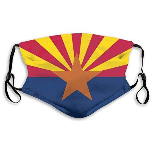 Bequemes bedrucktes Ma-sk, Flagge von Arizona, Winddichte Gesichtsdekorationen für Mann und Frau